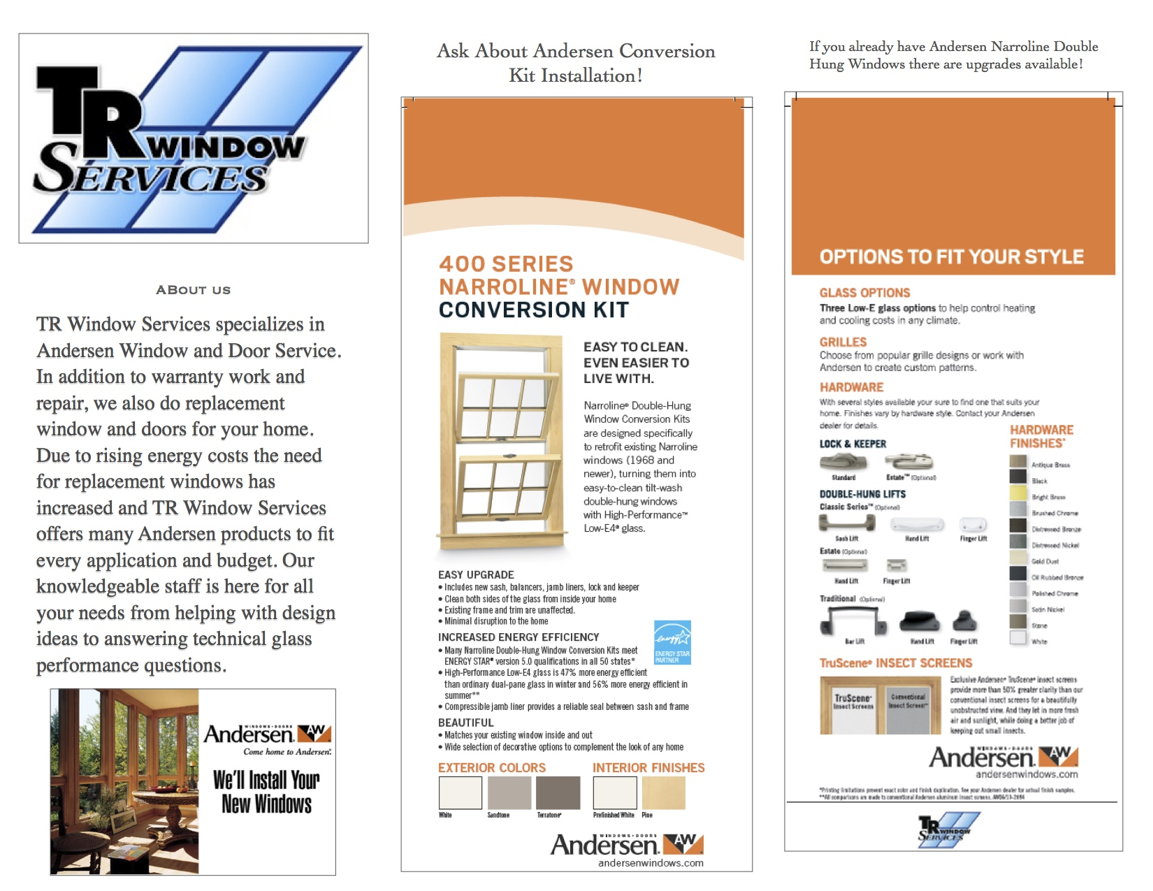 Ask About Window Conversion Kits