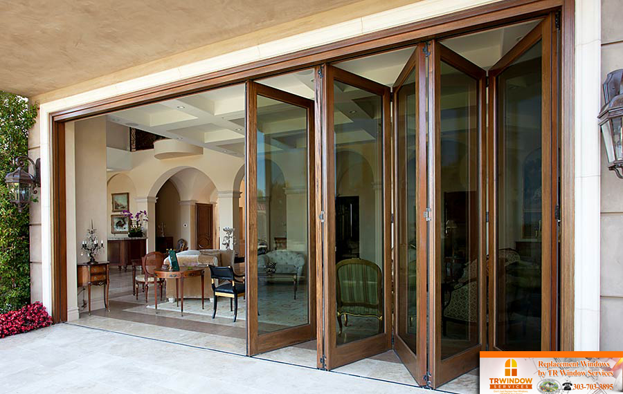 bi fold door denver replacement windows colorado denver replacement