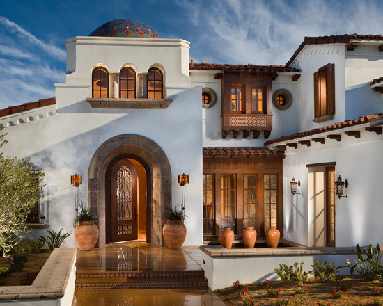 Spanish colonial home style for Colonial window designs