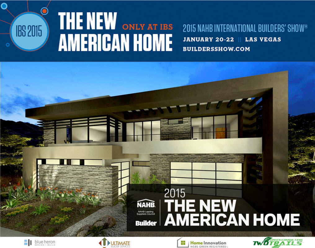 Home open for tours at international builders 39 show 2015 for New american home las vegas