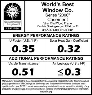 ENERGY STAR ® label to products